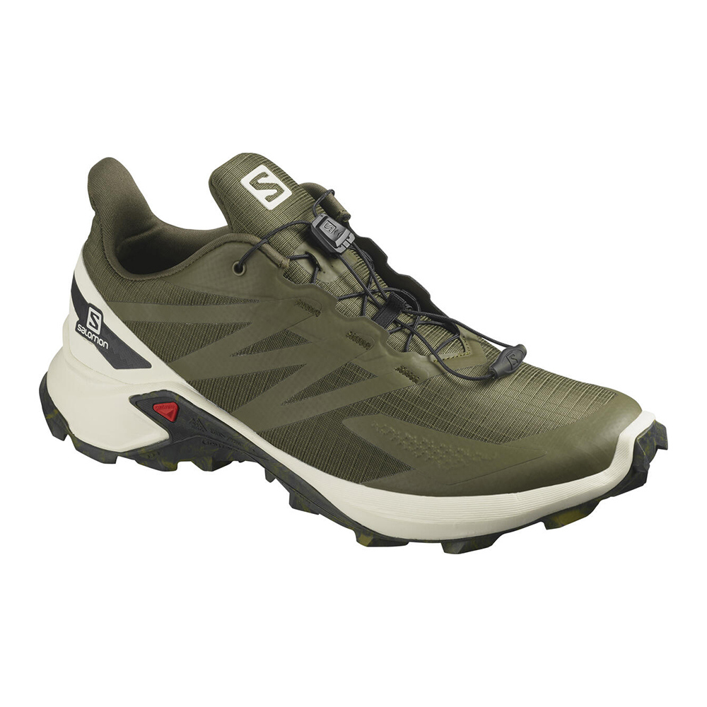 SALOMON - Salomon SUPERCROSS BLAST - Chaussures trail Homme olive night/vanilla
