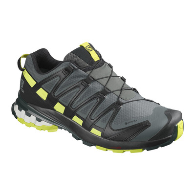 SALOMON - XA PRO 3D V8 GTX - Hiking Shoes - Men's - urban chic/black/lime punc