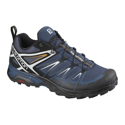 SALOMON - X ULTRA 3 - Hiking Shoes - Men's - dark denim/black/cumin