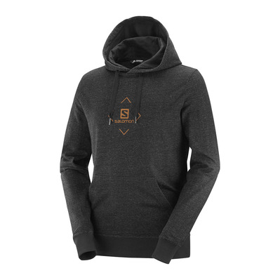 SALOMON - SHIFT HOODIE M Black/APRICOT ORANGE Homme Black/APRICOT ORANGE