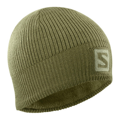 SALOMON - LOGO - Gorro martini olive/olive night