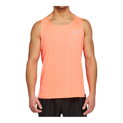 ASICS - SILVER - Tank Top - Men's - flash coral
