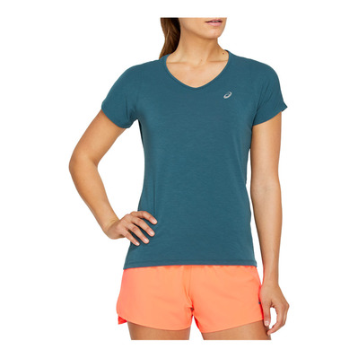 ASICS - V-NECK - Jersey - Women's - magnetic blue