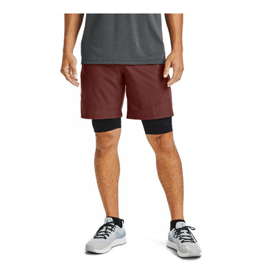UNDER ARMOUR - VANISH WOVEN - Short hombre cinna red/black