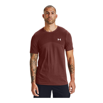 UNDER ARMOUR - SEAMLESS - Funktionsshirt - Männer - cinna red/halo gray