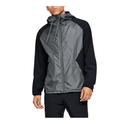 UNDER ARMOUR - STRETCH-WOVEN HOODED JACKET-BLK Homme Black/Pitch Gray/Black