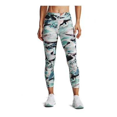UNDER ARMOUR - UA HG Armr Print Ankle Crop-BLU Femme Seaglass Blue/White