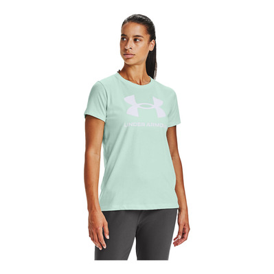 UNDER ARMOUR - LIVE SPORTSTYLE GRAPHIC - T-Shirt - Frauen - seaglass blue/white