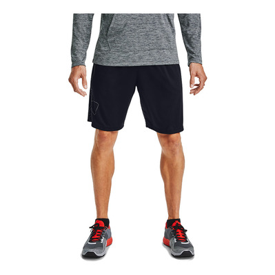 UNDER ARMOUR - TECH LOGO - Short hombre black/pitch gray