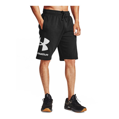 UNDER ARMOUR - RIVAL FLEECE BIG LOGO - Short Homme black/onyx white