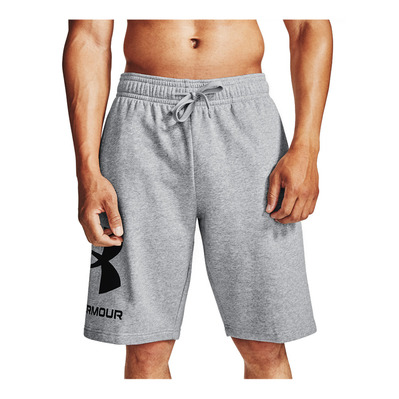 UNDER ARMOUR - RIVAL FLEECE BIG LOGO - Short Homme mod gray light heather/black