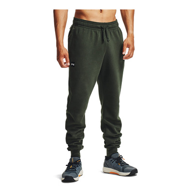 UNDER ARMOUR - UA Rival Fleece Joggers-GRN Homme Baroque Green/Onyx White