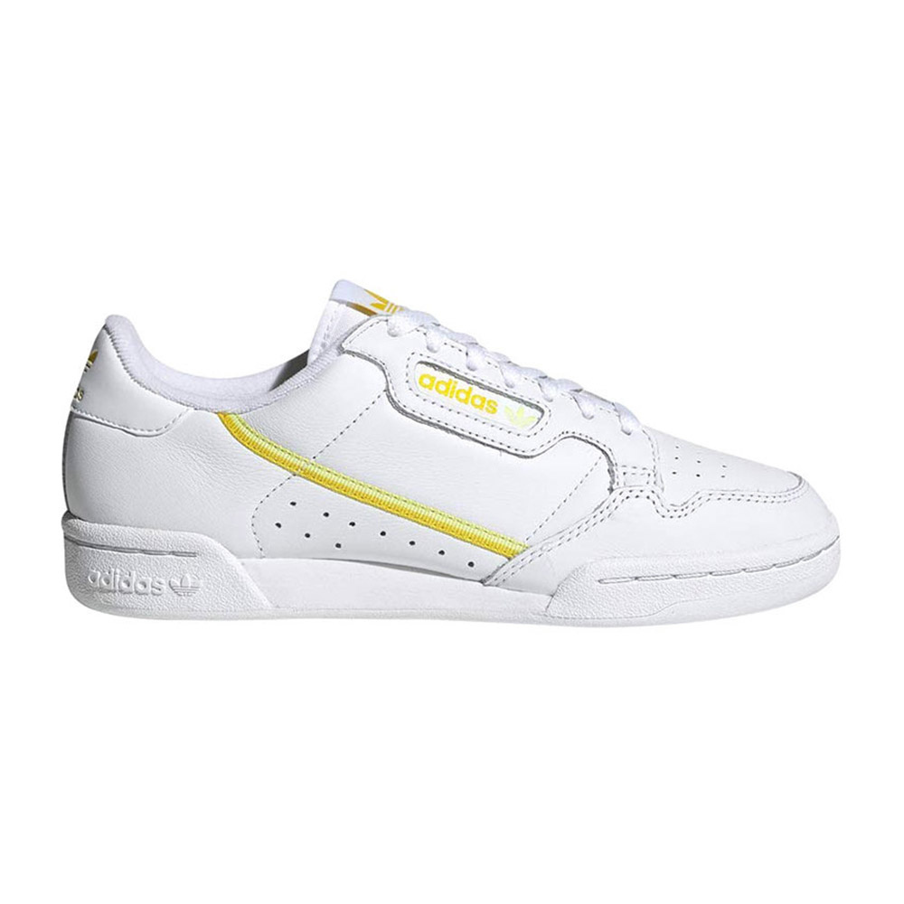 Adidas CONTINENTAL 80 - Sneakers Femme blanc/jaune