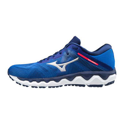 MIZUNO - WAVE HORIZON 4 - Chaussures running Homme blue/cloud/diva pink
