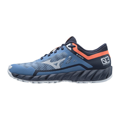 MIZUNO - WAVE IBUKI 3 GTX - Trail Shoes - Women's - mblue/arcticice/bapple