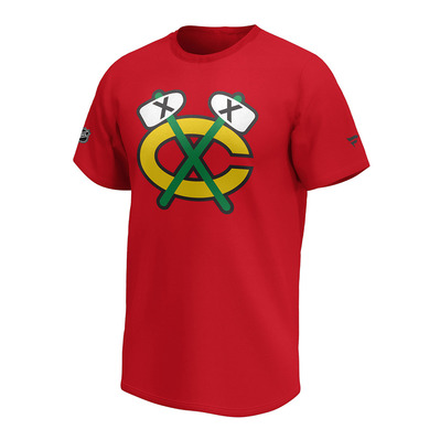 FANATICS - CHICAGO BLACKHAWKS W1878MURD2ADCBL - Tee-shirt Homme red