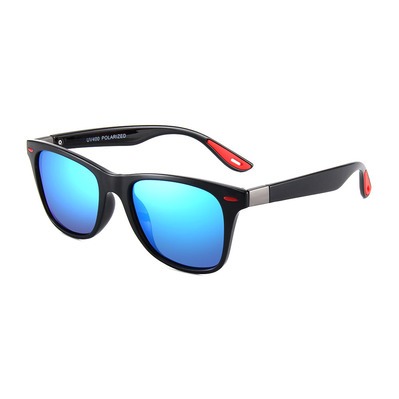 FLUOR - CLASSIC SQUARE - Gafas de sol polarizadas black/red/blue