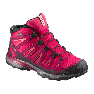 SALOMON - X-ULTRA MID GTX - Hiking Shoes - Junior - virtual pink/beet red/living coral
