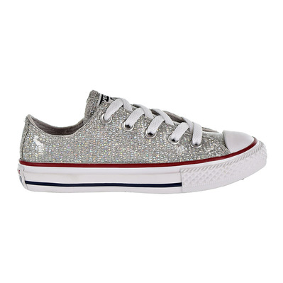 CONVERSE - CHUCK TAYLOR ALL STAR SPARKLE LOW TOP - Chaussures Junior mouse/enamel red/white grade B