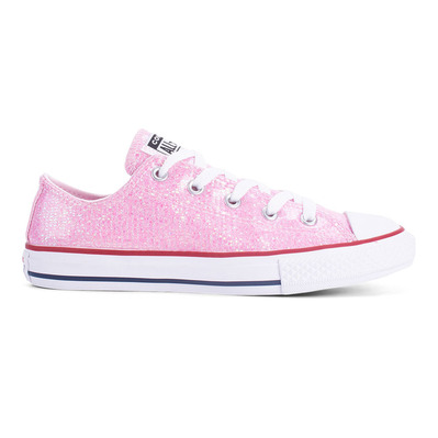 CONVERSE - CHUCK TAYLOR ALL STAR SPARKLE LOW TOP - Chaussures Junior pink foam/enamel red/white grade B