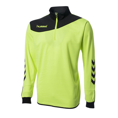 HUMMEL - CORPORATE - Sweat Junior jaune/gris