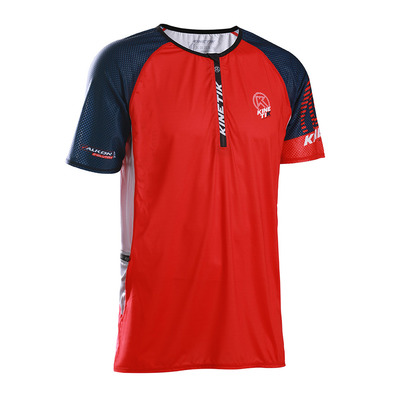 KINETIK - FALKON ZIP - Jersey - Men's - red navy