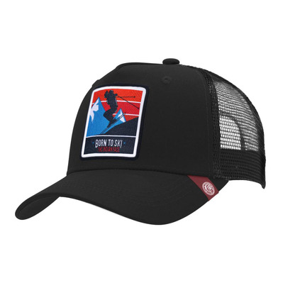 THE INDIAN FACE - BORN TO SKI - Gorra black
