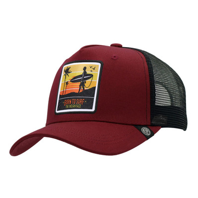 THE INDIAN FACE - BORN TO SURF - Cap - red/black