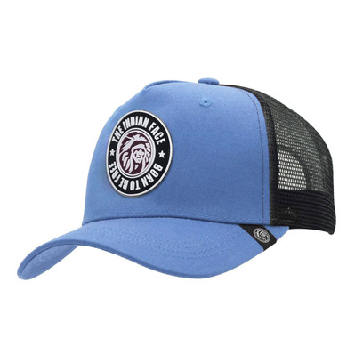 THE INDIAN FACE - BORN TO BE FREE - Gorra blue/black
