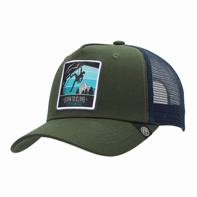 THE INDIAN FACE - BORN TO CLIMB - Gorra green/blue