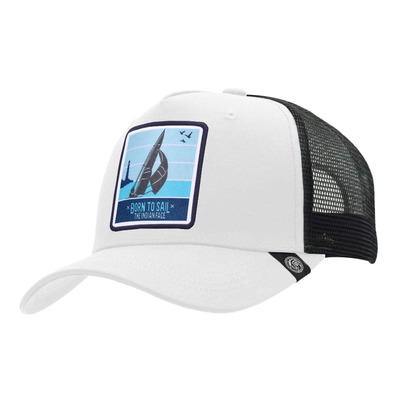 THE INDIAN FACE - BORN TO SAIL - Cap - white/black