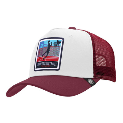 THE INDIAN FACE - BORN TO STREET BALL - Gorra white/red