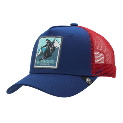 THE INDIAN FACE - BORN TO SNOWBOARD - Cap - blue/red