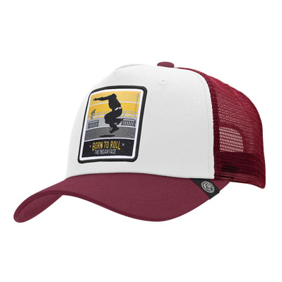 THE INDIAN FACE - BORN TO ROLL - Gorra white/red