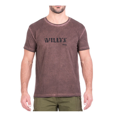 JEEP - J8S WILLYS - Tee-shirt Homme potting soil/black