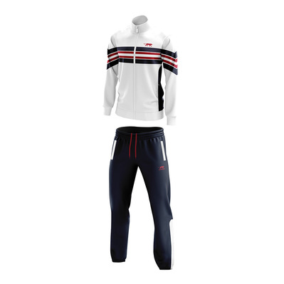 AIRNESS - BIGFLOW - Jacket + Jogging Pants - Men's - white/navy