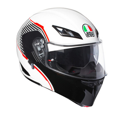 AGV - COMPACT ST VERMONT - Casco modular white/black/red