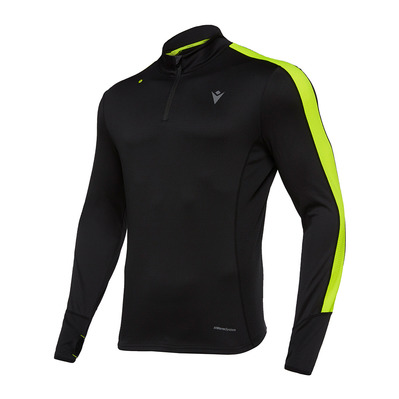 MACRON - RUN ZEPHIRO FBJ ADRIAN - Jersey - Men's - black/yellow