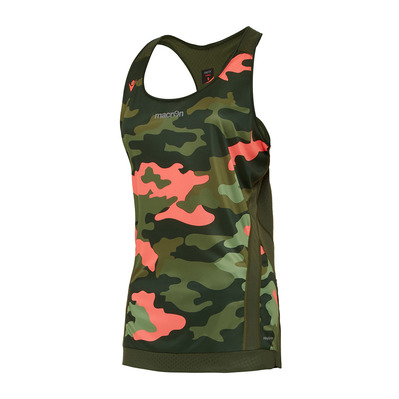 MACRON - KONA PRO RUN FBG - Tank Top - Women's - camo green/ncoral printed