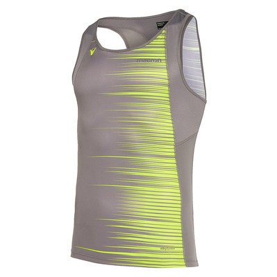 MACRON - RUN ZEPHIRO SBJ JOSEPH - Tank Top - Men's - printed grey / neon yellow