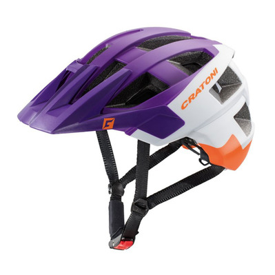 CRATONI - ALLSET - Casco BTT purple/white/orange matt