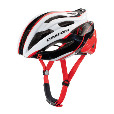 CRATONI - C-BOLT 2017 - Casco carretera white/black/red glossy