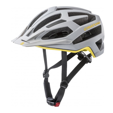 CRATONI - C-FLASH - Casco BTT stone/yellow mat