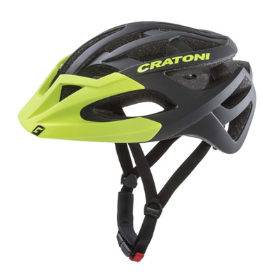 CRATONI - C-HAWK - Casco BTT black/green rubber