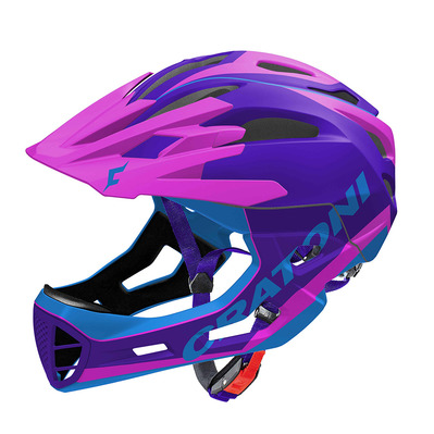 CRATONI - C-MANIAC LIMITED EDITION - Casco integral BTT purple/pink/blue mat