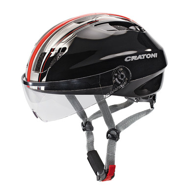 CRATONI - EVOLUTION LIGHT 2017 - Casco urbano black/red glossy