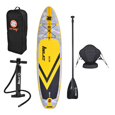 Z-RAY - EVASION EPIC 11' 2020 - Inflatable SUP Board - grey/yellow + Kayak Seat + Accessories