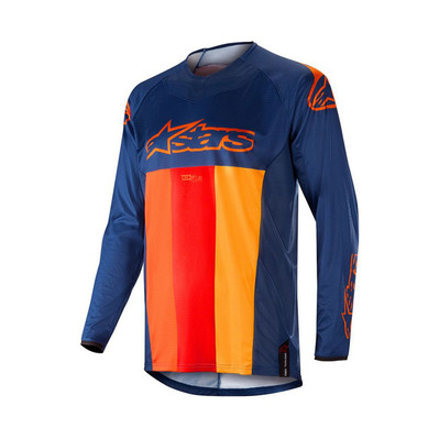 alpinestars - TECHSTAR VENOM - Jersey - Men's - dark blue/red tangerine