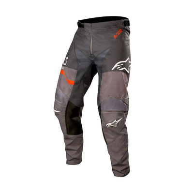alpinestars - RACER FLAGSHIP - Pantalon Homme mid gray/anthracite/orange fluo