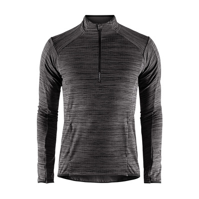 CRAFT - GRID DEMI-ZIP SKI - Jersey - Men's - black heather